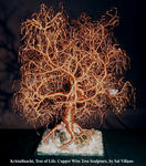 Sal Villano Wire Tree Sculpture - 水晶之夜生命,树